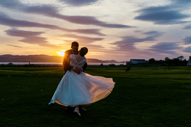 sunset-photo-buncrana-ireland-wedding