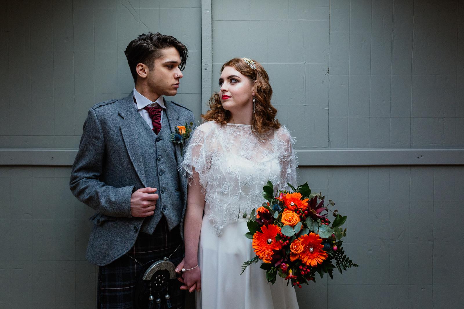 knockraich-farm-tin-shed-bride-groom