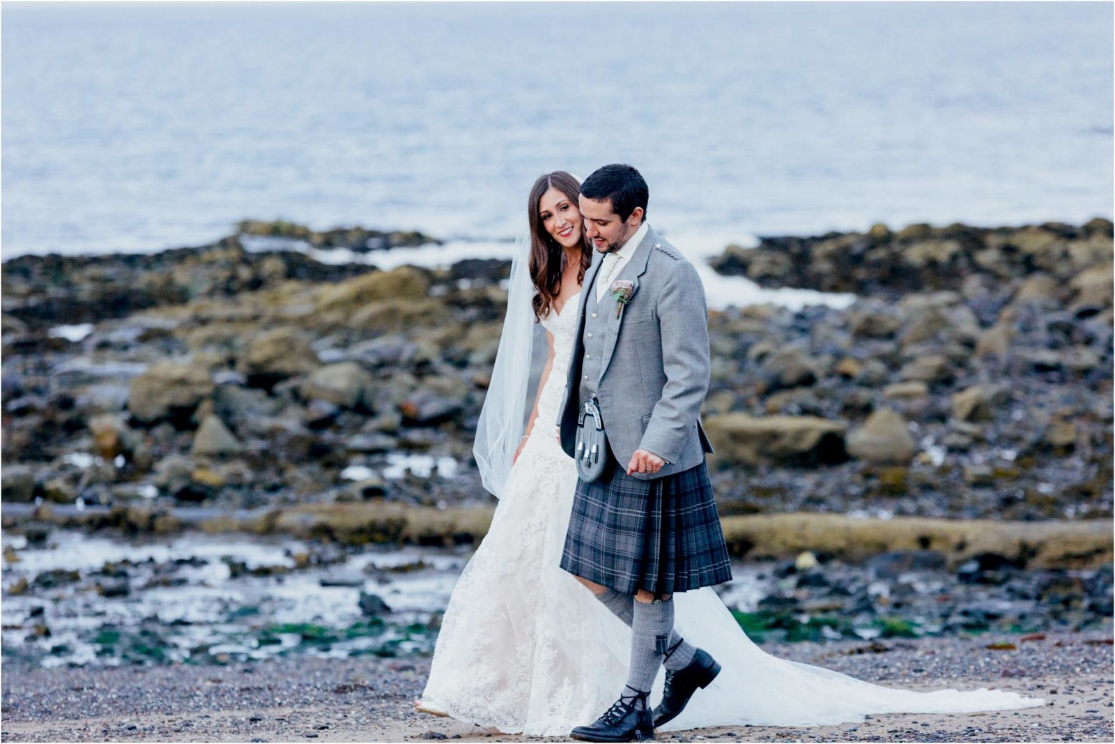 bride-groom-walking-beach-ayr