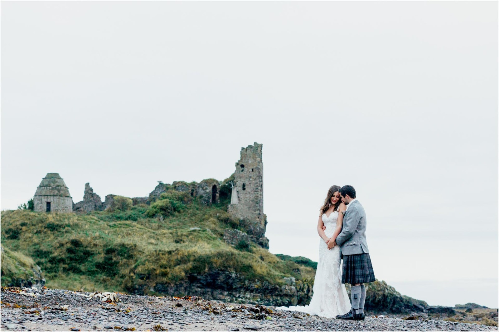 bride-groom-dunure-castle