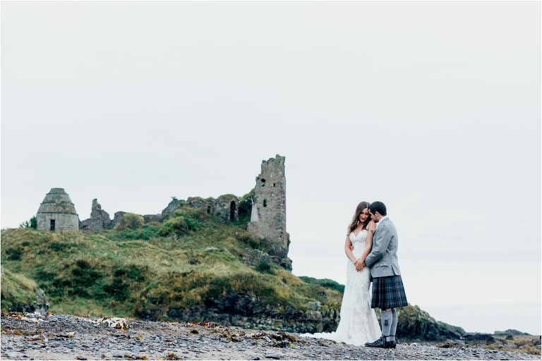bride-groom-dunure-castle
