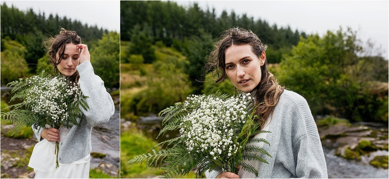 windswept-girl-wearing-cardigan-holding-bouquet
